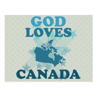 God Loves Canada Postcard