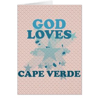 God Loves Cape Verde Greeting Card