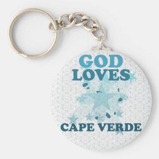 God Loves Cape Verde Keychain