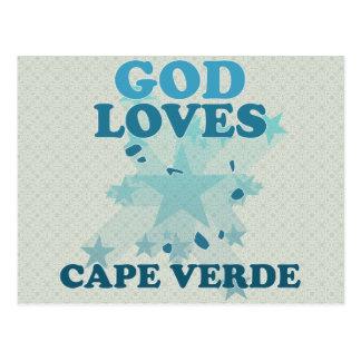God Loves Cape Verde Postcard