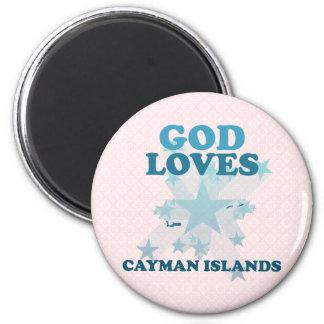 God Loves Cayman Islands Fridge Magnets