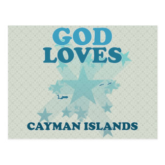 God Loves Cayman Islands Postcard