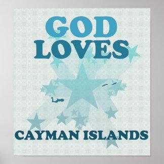 God Loves Cayman Islands Poster