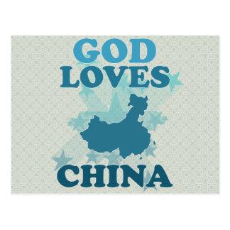 God Loves China Postcards