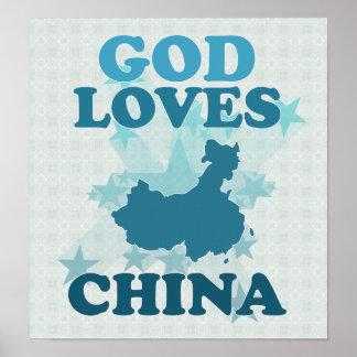 God Loves China Poster