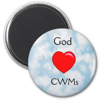 God Loves Christian Working Moms (CWMs) Magnet