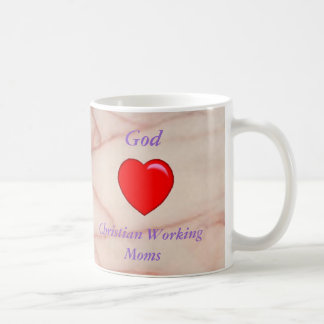 God Loves Christian Working Moms Mug