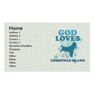 God Loves Christmas Island Business Card Template