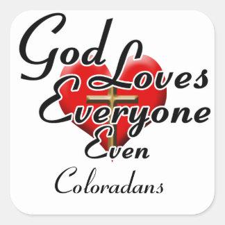God Loves Coloradans Square Sticker