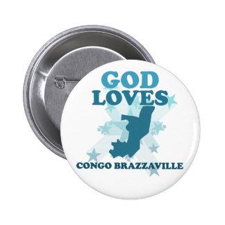 God Loves Congo Brazzaville Pin