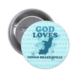 God Loves Congo Brazzaville Button