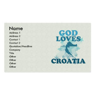 God Loves Croatia Business Card Template