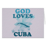 God Loves Cuba Card