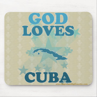 God Loves Cuba Mouse Pad