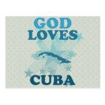 God Loves Cuba Post Card
