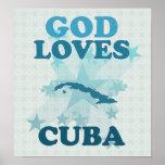 God Loves Cuba Print