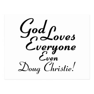 God Loves Doug Christie! Postcard