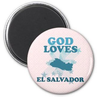God Loves El Salvador 2 Inch Round Magnet