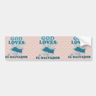 God Loves El Salvador Car Bumper Sticker