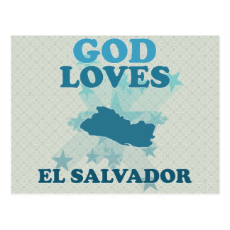 God Loves El Salvador Postcard