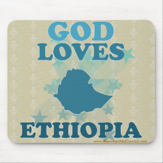 God Loves Ethiopia Mouse Pad
