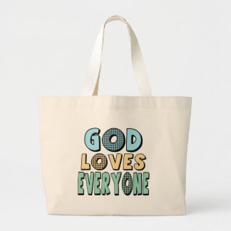 God Loves Everyone Canvas Bags