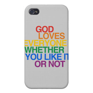 GOD LOVES EVERYONE - CASE FOR iPhone 4