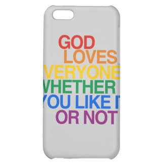 GOD LOVES EVERYONE - COVER FOR iPhone 5C