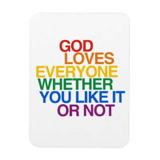 GOD LOVES EVERYONE - FLEXIBLE MAGNETS