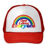 God Loves Everyone Gay Rainbow Trucker Hat