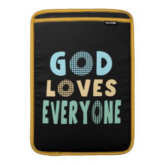 God Loves Everyone MacBook Air Sleeves