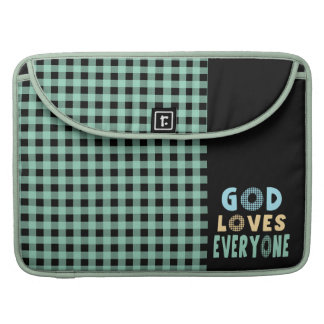 God Loves Everyone Sleeve For MacBook Pro