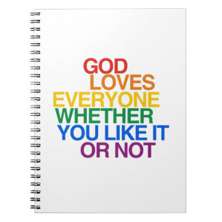 GOD LOVES EVERYONE - NOTEBOOK