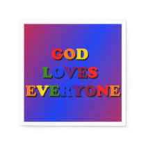 God loves everyone paper napkin