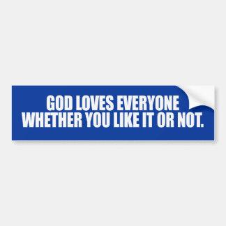 GOD LOVES EVERYONE -.png Bumper Sticker