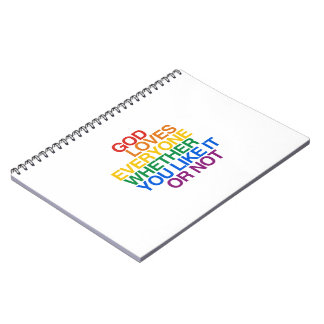 GOD LOVES EVERYONE - SPIRAL NOTEBOOK