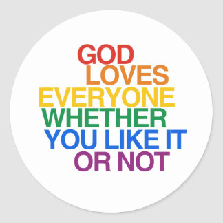 GOD LOVES EVERYONE - STICKERS