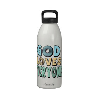 God Loves Everyone Water Bottles