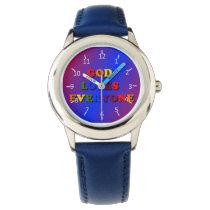 God Loves Everyone Wristwatch