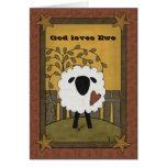 God Loves Ewe Sheep Card