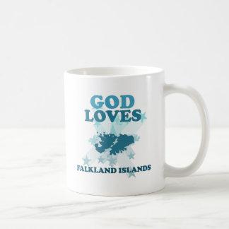God Loves Falkland Islands Classic White Coffee Mug