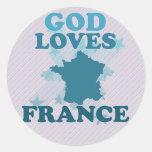 God Loves France Stickers