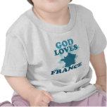 God Loves France T-shirts