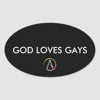 God Loves Gays Oval Stickers