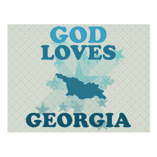God Loves Georgia Postcard
