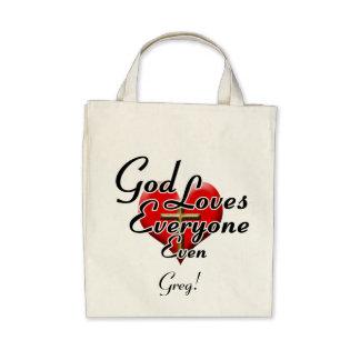 God Loves Greg Tote Bag