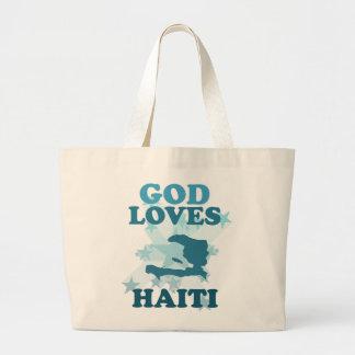 God Loves Haiti Large Tote Bag
