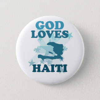 God Loves Haiti Pinback Button