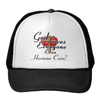 God Loves Herman Cain! Hats