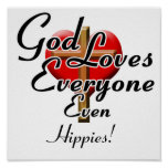 God Loves Hippies! Poster